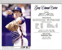 Gary Carter Hall Of Fame Induction Day July 27, 2003 New York Mets 8X10 Photo LIMITED STOCK