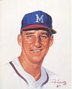 Warren Spahn Limited Edition up to 5000 by Ron Lewis Milwaukee Braves 8X10 Photo LIMITED STOCK