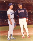 Steve Sax & Reggie Jackson LA Dodgers / Angels Slight Creases 8x10 Photo SUPER SALE
