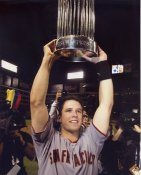 Buster Posey with World Series Trophy 2010 San Francisco Giants 8X10 Photo