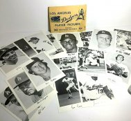 Dodgers 1970's Player Pictures (FULL SET OF 20) Original Stadium Souvenir 5x7 Photo Set With Facsimile Autographs