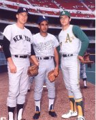 Mel Stottlemyer,Luis Aparicio & Jim Catfish Hunter Yankees, White Sox & A's LIMITED STOCK 8X10 Photo