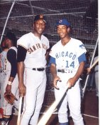 Ernie Banks & Willie McCovey Chicago Cubs & San Francisco Giants LIMITED STOCK Photo