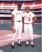 Willie McCovey & Joe Torre San Francisco Giants / St. Louis Cardinals 8X10 Photo