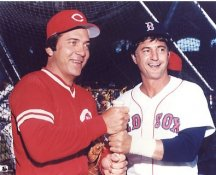 Carl Yastrzemski & Johnny Bench Boston Red Sox / Cincinnati Reds LIMITED STOCK 8x10 Photo