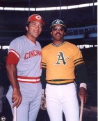Johnny Bench & Reggie Jackson Cincinnati Reds / Oakland A's LIMITED STOCK 8x10 Photo