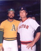 Carl Yastrzemski & Reggie Jackson Boston Red Sox / Oakland A's LIMITED STOCK 8x10 Photo