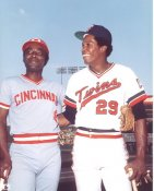 Joe Morgan & Rod Carew Cincinnati Reds / Minnesota Twins LIMITED STOCK 8X10 Photo