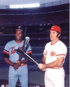Rod Carew & Pete Rose Minnesota Twins / Cincinnati Reds LIMITED STOCK 8X10 Photo