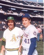 Tom Seaver & Jim Catfish Hunter 1973 World Series New York Mets / Oakland A's LIMITED STOCK 8X10 Photo