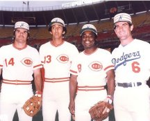 Dave Concepcion, Pete Rose, Joe Morgan & Steve Garvey 1976 All Star Game Cincinnati Reds / LA Dodgers LIMITED STOCK 8X10 Photo