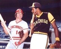 Pete Rose & Dave Winfield Cincinnati Reds / San Diego Padres LIMITED STOCK 8X10 Photo