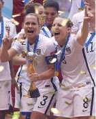 Christie Rampone & Amy Rodriguez 2015 USA Women's Soccer World Cup Champions LIMITED STOCK Satin 8X10 Photo