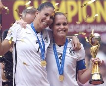 Christie Rampone & Shannon Boxx 2015 USA Women's Soccer World Cup Champions LIMITED STOCK Satin 8X10 Photo