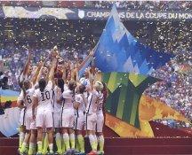 Carli Lloyd, Whitney Engen, Megan Rapinoe, Christie Rampone 2015 Team USA Women's Soccer World Cup Champions LIMITED STOCK Satin 8X10 Photo