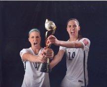 Morgan Brian & Julie Johnston Ertz 2015 USA Women's Soccer World Cup LIMITED STOCK Satin 8X10 Photo