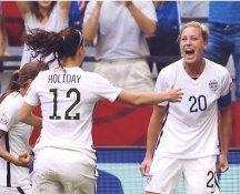 Lauren Holiday & Abby Wambach USA Women's Soccer World Cup LIMITED STOCK Satin 8X10 Photo