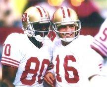 Jerry Rice & Joe Montana San Francisco 49ers LIMITED STOCK Satin 8X10 Photo