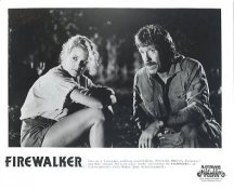 Chuck Norris & Melody Anderson in Firewalker LIMITED STOCK 8X10 Photo