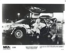 Michael J Fox & Christopher Lloyd in Back To The Future LIMITED STOCK 8X10 Photo