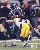Troy Polamalu & Shaun Alexander Super Bowl 40 Steelers / Seahawks Slight Corner Crease SUPER SALE 8X10 Photo
