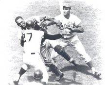 Sandy Koufax, Johnny Roseboro, Juan Marichal Los Angeles Dodgers LIMITED STOCK Satin 8X10 Photo