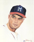 Eddie Mathews Milwaukee Braves Card Stock Litho by Ron Lewis LIMITED NUMBERED EDITION 8X10 Photo