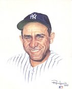 Yogi Berra New York Yankees Card Stock Litho by Ron Lewis LIMITED NUMBERED EDITION 8X10 Photo