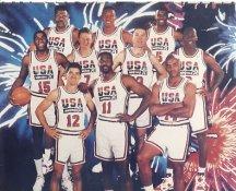 David Robinson, Charles Barkley, Michael Jordan, Magic Johnson, Larry Bird Dream Team USA 1992 LIMITED STOCK 8X10 Photo