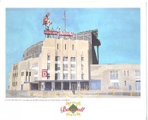 Cleveland Stadium Cleveland Indians America's Baseball Temples LIMITED STOCK 8X10 Photo Litho