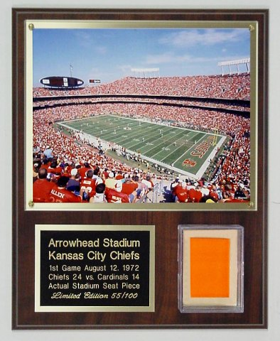 Arrowhead Stadium Seat Plaque Limited Edition of 100