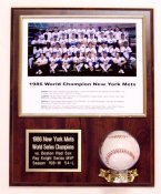 Photo and Baseball Plaque Display Horizontal (Ball & Photo Not Included)-  5 lines FREE ENGRAVING (120 Letters)