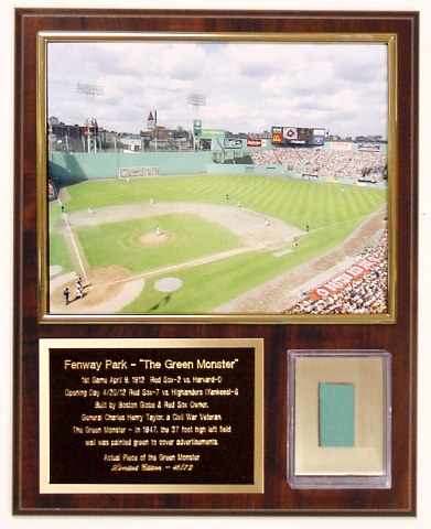 Fenway Park Green Monster Plaque Limited Edition of 72
