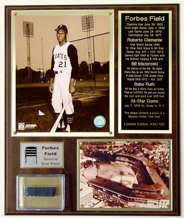 Roberto Clemente Forbes Field Seat Plaque Limited Edition of 100