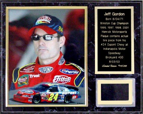 Jeff Gordon Tire Plaque