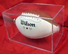 Clear Football Display- 2 Piece Holds regulation size football