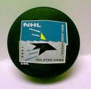 """Sharks 1995 Puck All-Star Game Hockey Puck  """"THE GAME THAT NEVER WAS"""" Cancelled Due To Strike"""