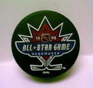 Canucks 1998 Puck All-Star Game Hockey Puck