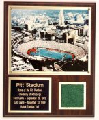 Pitt Stadium Turf Plaque
