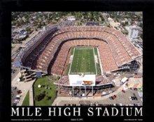 A1 Mile High Stadium Aerial Denver Broncos 8x10
