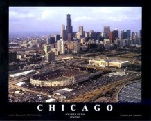 A1 Soldier Field Old Aerial & Skyline Chicago Bears 8x10 Photo