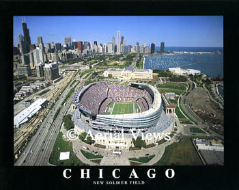 A1 Soldier Field New Aerial Chicago Bears 8X10 Photo