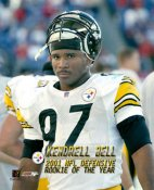 Kendrell Bell ROOKIE OF THE YEAR Pittsburgh Steelers 8x10 Photo