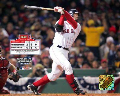 Jason Varitek Game 2  2004 World Series LIMITED STOCK 8x10 Photo