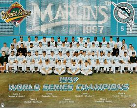 Florida 1997 Marlins World Champs Team Photo Jim Leyland Manager