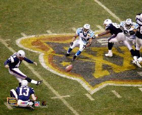 Adam Vinatieri Winning Kick Super Bowl 38 Corner Crease SUPER SALE 8x10 Photo