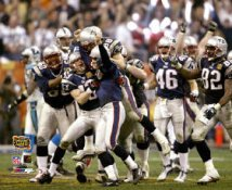 Adam Vinatieri Celebrates with Brian Kinchen, Daniel Graham Super Bowl 38 Win LIMITED STOCK 8x10 Photo