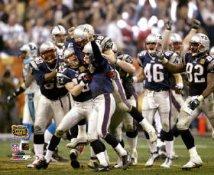 Adam Vinatieri Celebrates with Brian Kinchen, Daniel Graham Super Bowl 38 Win LIMITED STOCK 8x10 Photo
