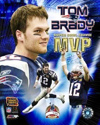 Tom Brady MVP Limited Edition  Super Bowl 38 8x10 Photo