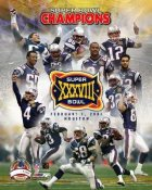 Patriots 2004 Super Bowl 38 LTD Edition Team 8x10 Photo
